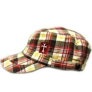 Mega Caps Womens Plaid Cabbie Hat Adjustable
